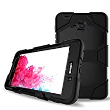 Galaxy Tab A 7.0 Case,Shockproof dust-proof hard armor Heavy Duty design with Kickstand Protective Case For Samsung Galaxy Tab A 7.0 Inch Tablet 2016 Release [SM-T280 / SM-T285] (Black)