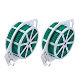 DxJ 2 Pack Twist Tie - Multi-Function Garden Plant Wire Ties with Cutter/Cable Tie/Zip Tie/Coated Wire for Gardening/Home/Office,328 Feet (100m)