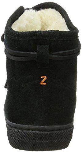 Hub Dames Koningin Boot N30 Hoge Sneaker Zwart (zwart / Zwart Neutraal Grijs)