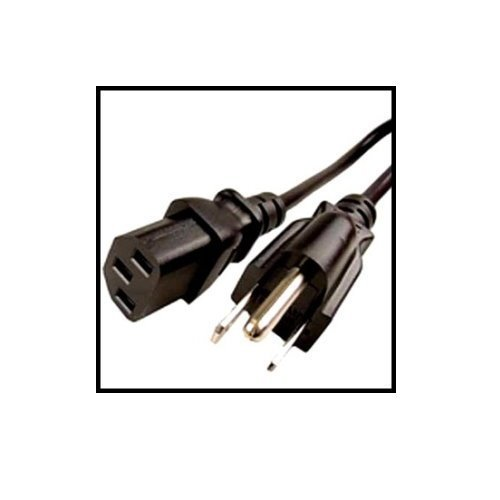 3 prong wall power cord for Sony PS3 Playstation 3 Thick 1st gen.,Westinhouse Samsung LG Vizio LCD TV Plasma TV,Dell HP Compaq Desktop PC Computer Monitor,Standard Power Supply Cord -5 Feet
