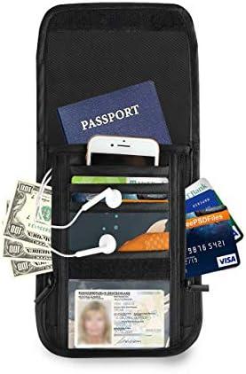金魚 花 パスポートホルダー セキュリティケース パスポートケース スキミング防止 首下げ トラベルポーチ ネックホルダー 貴重品入れ カードバッグ スマホ 多機能収納ポケット 防水 軽量 海外旅行 出張 ビジネス
