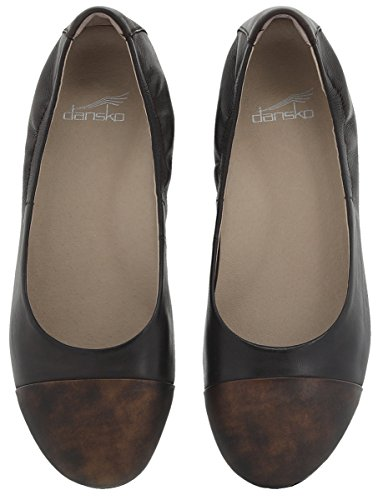 Lisanne Nubuck Flats Toe Round Ballet Dansko Womens Burnished Chocolate wqSHBX58n