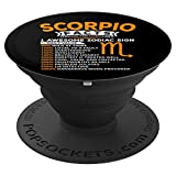 Funny Scorpio Birthday Gift Astrology Zodiac Sign - PopSockets Grip and Stand for Phones and Tablets