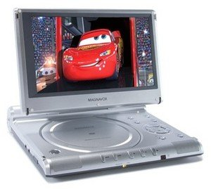 Magnavox MPD 850 8.5-Inch Portable DVD Player with Bag and 2