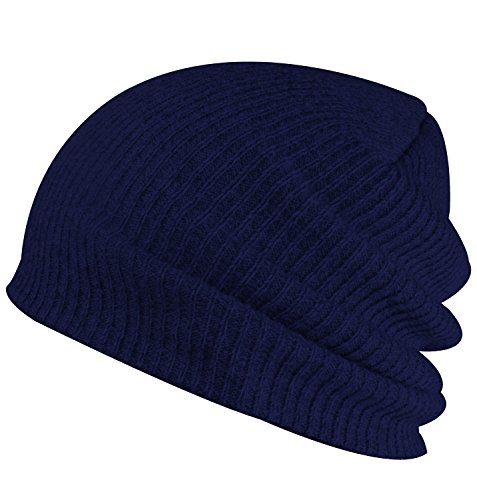 (Paladoo Slouchy Winter Hats Knitted Beanie Caps Soft Warm Ski Hat Navy Blue )