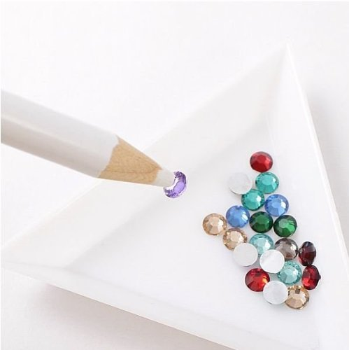 2pcs Rhinestone Picker Pencil Pen Tool For Nail Art So Beauty