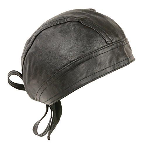 Unisex Leather Skull Cap ()