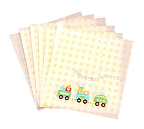 Huasen Approx.100 Pcs Cookie Cartoon Candy Food Bags Self-adhesive Flat - Bags Cartoon Flat