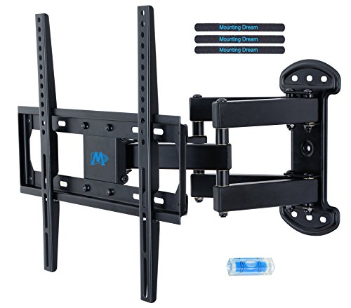 Mounting Dream MD2379 TV Wall Mount Bracket Most 26-55 inch LED, LCD, OLED Plasma Flat Screen TV Full Motion Swivel Articulating Dual Arms up to VESA 400x400mm 99 lbs Tilting