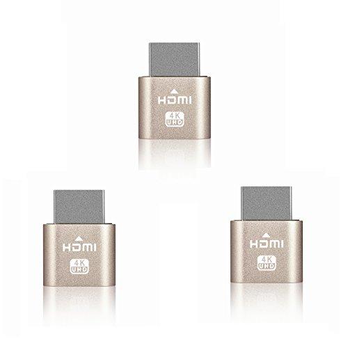 HDMI dummy plug, Display Port, Headless Ghost, Display Emulator, EDID Emulator Plug 4K Max. standard resolution 1920x1080 @60Hz(3 Pcs) by Joyzy