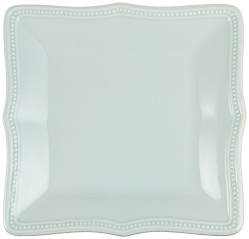 Blue Square Accent Plate (Lenox French Perle Bead Square Accent Plate, Ice Blue)