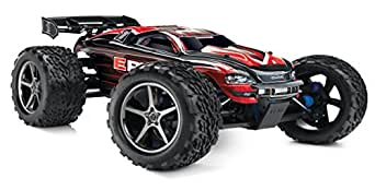 Traxxas E-Revo: 1/10 Scale 4WD Electric Racing Monster Truck with TQi 2.4GHz Radio and TSM, Red