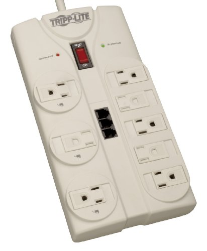 Tripp Lite 8 Outlet Surge Protector Power Strip, 8ft Cord Ri