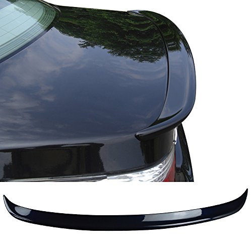 - Pre-painted Trunk Spoiler Fits 2004-2010 BMW 5 Series | AC Style Painted Carbon Black Metallic #416 ABS Added On Lip Wing Bodykits other color available by IKON MOTORSPORTS| 2004 2005 2006 2007 2008