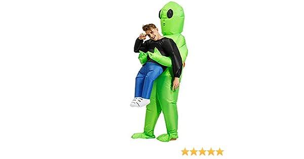 Molie Disfraz de Halloween Spoof Inflatable Green Ghost Hugs ...