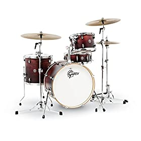 Gretsch Drums CT1-J404-SAF Catalina Club 4 Piece Drum Shell Pack, Satin Antique Fade 9