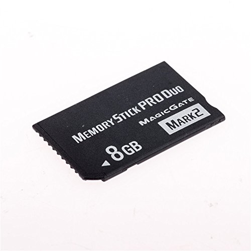 8GB High Speed MS Memory Stick Pro Duo Card Mark 2 Storage for Sony PSP 1000/2000/3000 Game Console (Retail Package)