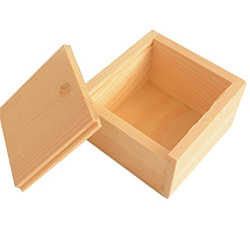 super1798Vintage Simple, liso, pequeñas de madera Gadgets joyas caja de almacenamiento soporte