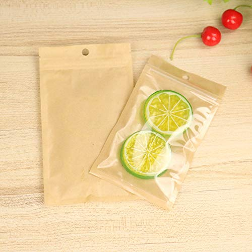 100 Pcs Front Clear Ziplock Bags Transparent Plastic Pouch Bulk Food Storage Mini Sample Bags Coffee Food Grade Heat Sealable Pouches Cosmetic Lotion Bath Salt Seal (Tea Bags 12x20cm (4.7x7.8