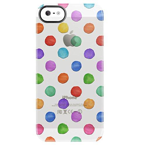Uncommon Coque pour iPhone 5 Pois multicolores