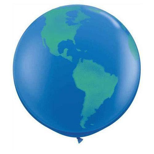 Qualatex Round Globe Biodegradable Latex Balloon, 36-Inch (2-Units)]()