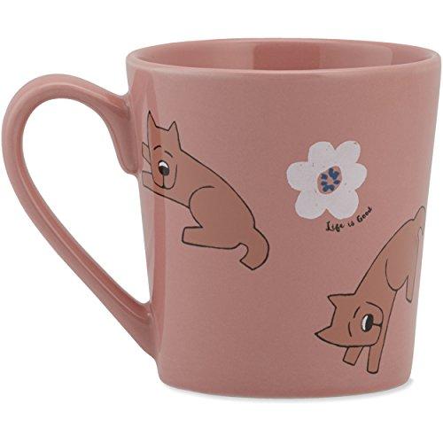 Life Is Good Women's Rocket Daisy Toss Everyday Mug, Chalky Peach, OS