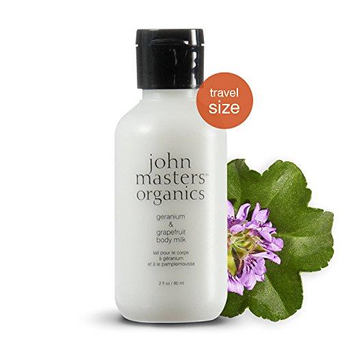 John Masters Organics - Geranium & Grapefruit Body Milk - Light Body Lotion to Hydrate, Moisturize & Soothe Skin with Coconut Oil, Aloe Vera & Vitamin C for All Skin (Aloe Body Milk)
