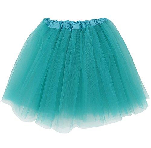 Extra Plus Size Adult Tutu XXL - Princess Costume Ballet Warrior Dash Running Skirt (Turquoise Green) -