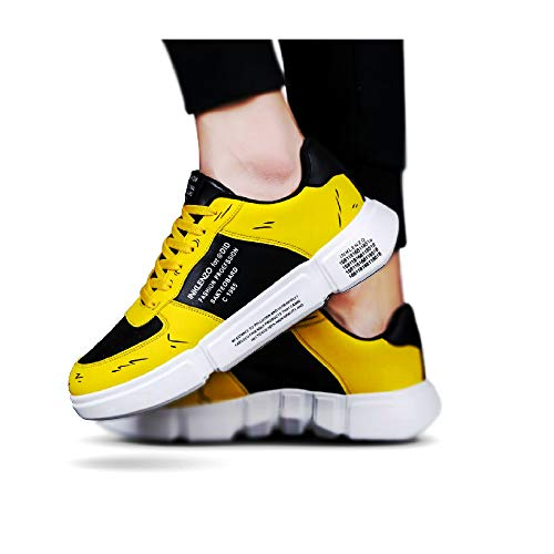 Inklenzo Men's Fashion Sneakers Breathable Mesh Running Shoes Black Soft Sole Casual Athletic Lightweight Walking Shoes Price & Reviews