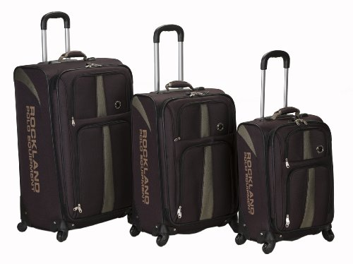 Rockland Luggage Eclipse Spinner Polo Equipment 3 Piece Luggage Set, Brown, One Size, Bags Central
