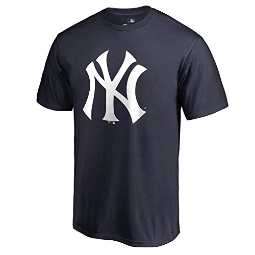New York Yankee Shirt - Outerstuff MLB Youth 8-20 Team Color Performance Primary Logo T-Shirt (Medium 10/12, New York Yankees)