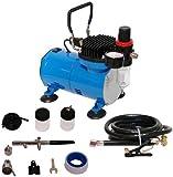 Airbrush-Kompressor mit einer Double-Action-Airbrush mit Saugsystem