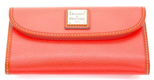 - Dooney & Bourke Saffiano Continental Clutch Wallet Genuine Leather, Geranium