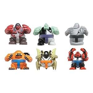 Ben 10 Sumo Slammer Battle Set 2: Four Arms, Diamonhead, Wildmutt, Ghostfreak, Stinkfly, Kevin 11