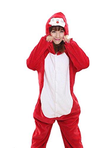 Vogstyle Plüsch-Hausschuhe Pyjamas Tier Onesie Body Nachtwäsche Kleid Overall Animal Sleepwear Erwachsene Pyjamas 1-3