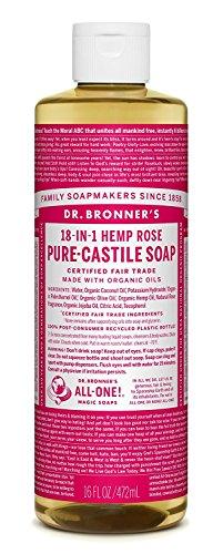 Dr Bronners, Soap Liquid Rose M/W Oils Fair Trade Organic, 16 Fl Oz