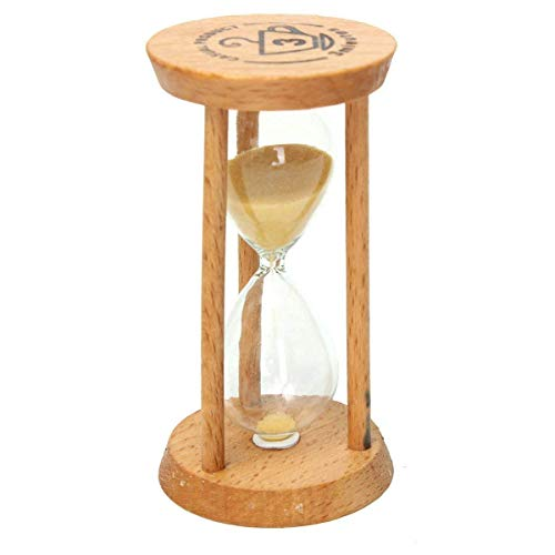 GracesDawn 3 minutes wooden hourglass yellow minimalist modern home furnishing]()