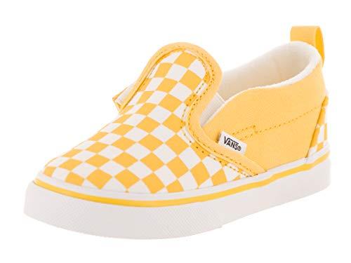 Vans Toddlers Slip-On V (Checkerboard) Checkerboard/Aspen Gold Skate Shoe 8 Infants US