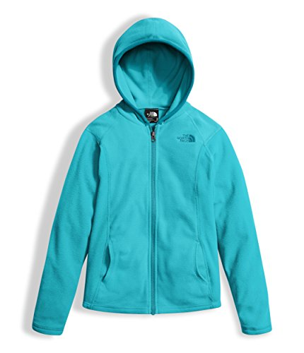 The North Face Girl's Glacier Full Zip Hoodie - Blue Curacao - M (Girl Face)