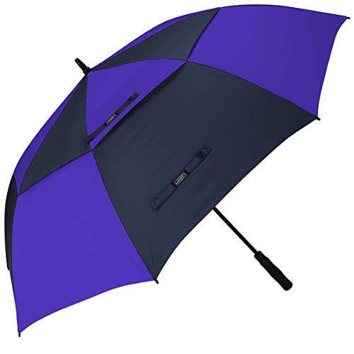 G4Free Golf Umbrella Extra Large 54 Inch Windproof Oversize Automatic Double Canopy Vented Waterproof Stick Umbrellas (Dark Blue/Sapphire)