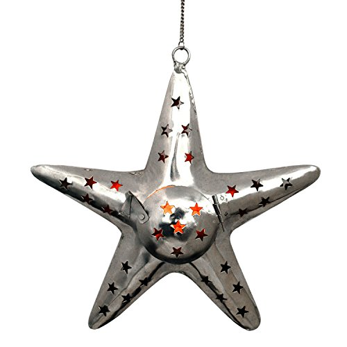 Decorative Gift Purpose Home Table Wall Decor Metal Candle Tealight Holder Star Shaped