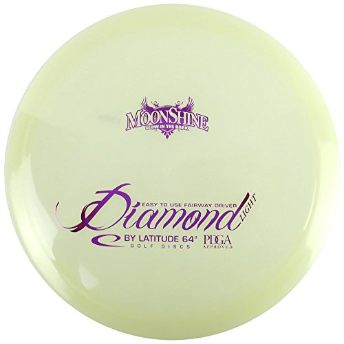 Latitude 64 Moonshine Opto Glow Line Diamond Light Fairway Driver Golf Disc [Colors May Vary] - 145-159g