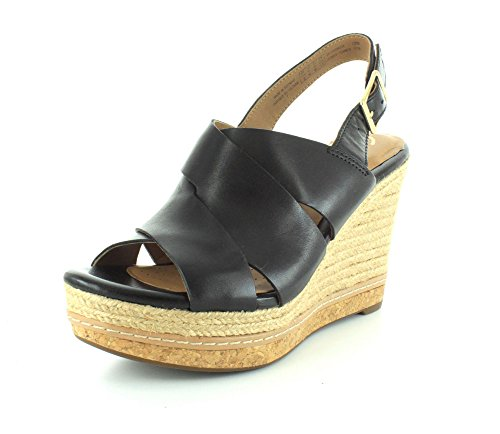 Skinn Plattform Sort Amelia Dall Kvinners Clarks Sandal 11 471qwvRY