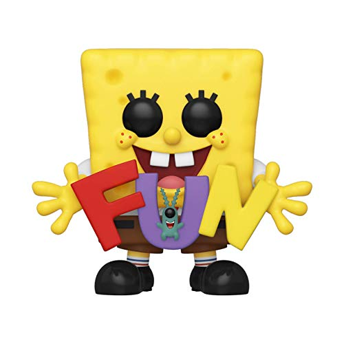 (Funko Pop! Animation: Spongebob Squarepants - Spongebob & Plankton with Fun Song Letters, Amazon Exclusive)