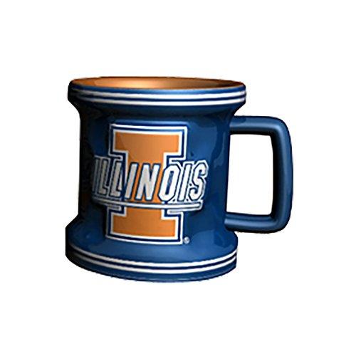 - NCAA Illinois Fighting Illini Sculpted Mini Mug, 2-ounce