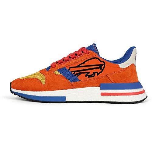 Men's Lightweight Orange Blue White Vintage Tennis Running Sneakers ()