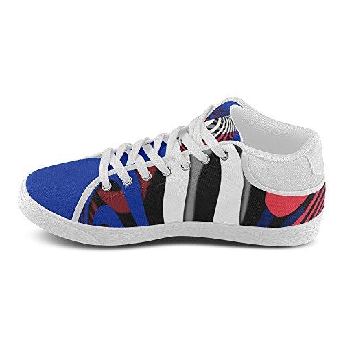 Interestprint La Bandera De Francia Chukka Sneakers Mujer Zapatos De Lona