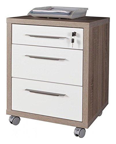 Composad Cassettiera ufficio 3 cassetti con ruote 49x45x63cm col.rovere tartufo CT4811