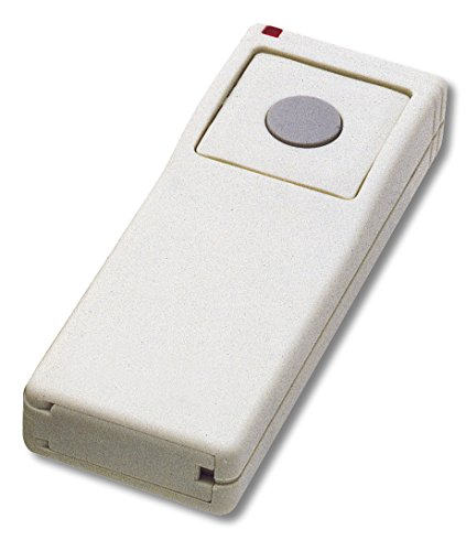Linear TX-91 Supervised 2-Button, 3-Channel Handheld Transmitter, White with Gray Button