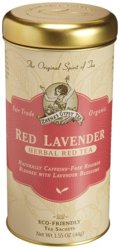 - Zhena's Gypsy Tea, Red Lavender, 22-Count Tea Sachets (Pack of 6)
